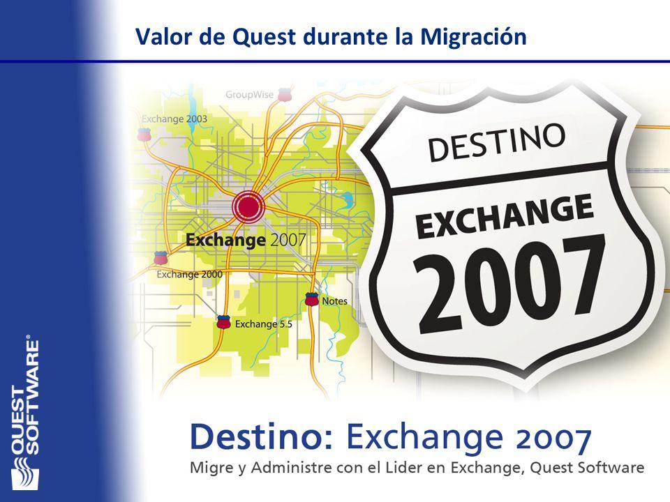 Valor de Quest durante la Migración