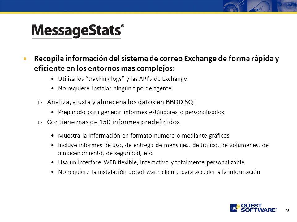 Recopila información del sistema de correo Exchange de forma rápida y eficiente en los entornos mas complejos:
