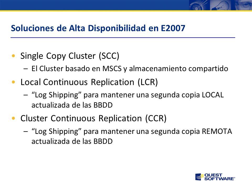 Soluciones de Alta Disponibilidad en E2007