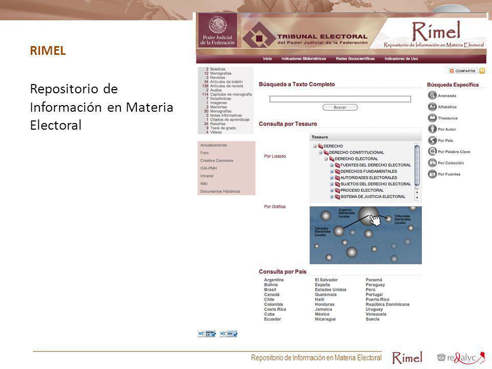 Repositorio de Información en Materia Electoral