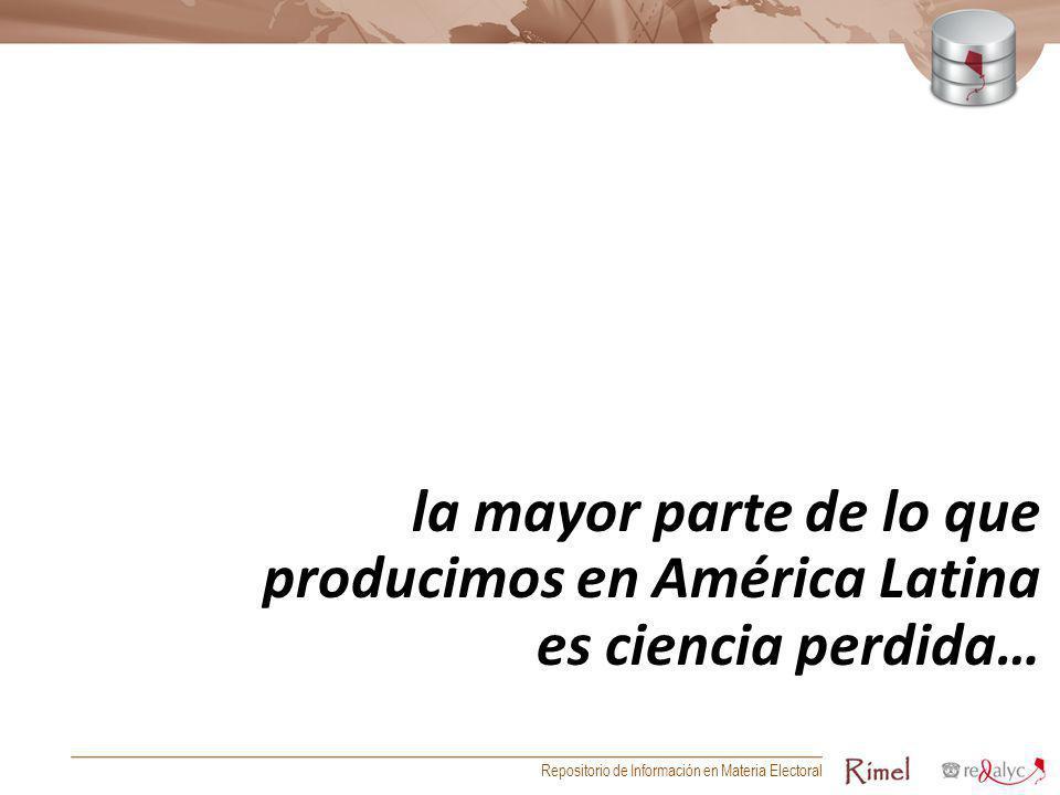producimos en América Latina es ciencia perdida…
