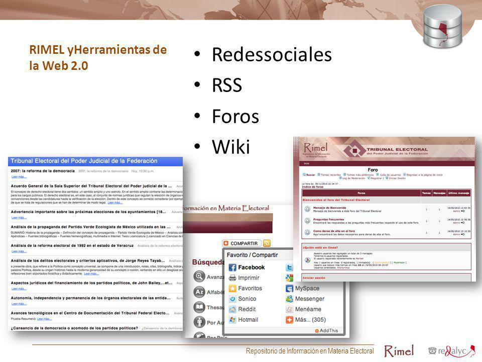 RIMEL yHerramientas de la Web 2.0