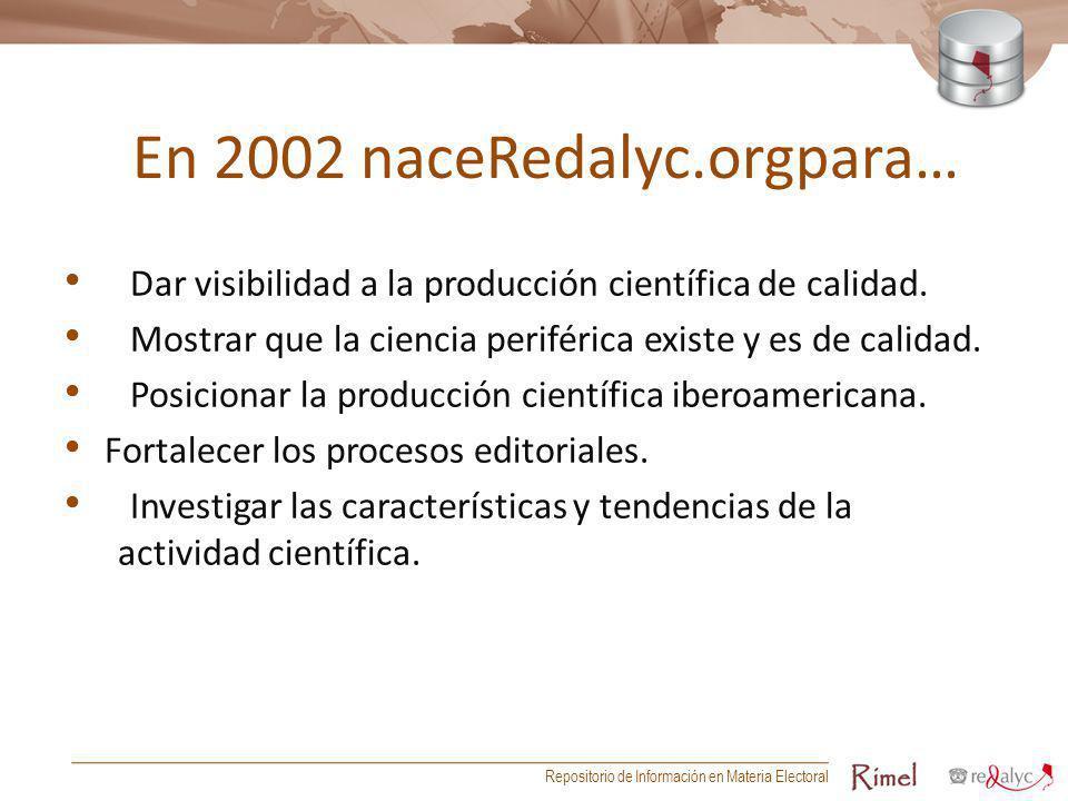 En 2002 naceRedalyc.orgpara…