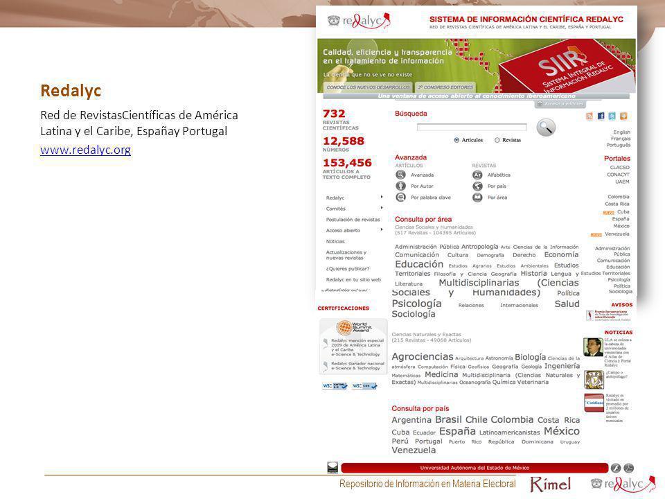 Redalyc Red de RevistasCientíficas de América Latina y el Caribe, Españay Portugal. www.redalyc.org.
