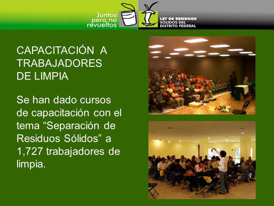 CAPACITACIÓN A TRABAJADORES DE LIMPIA
