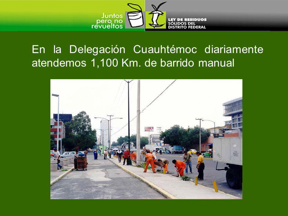 En la Delegación Cuauhtémoc diariamente atendemos 1,100 Km