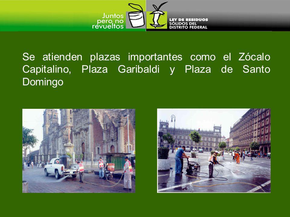 Se atienden plazas importantes como el Zócalo Capitalino, Plaza Garibaldi y Plaza de Santo Domingo