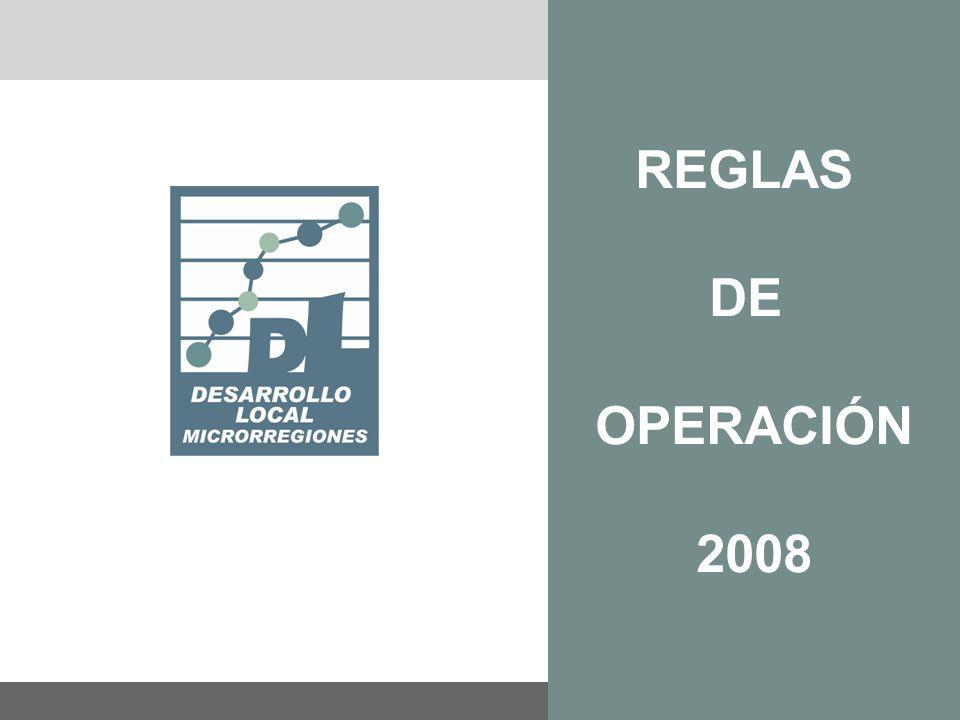 REGLAS DE OPERACIÓN 2008 FEBRERO 2008