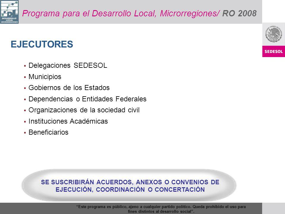 EJECUTORES Programa para el Desarrollo Local, Microrregiones/ RO 2008