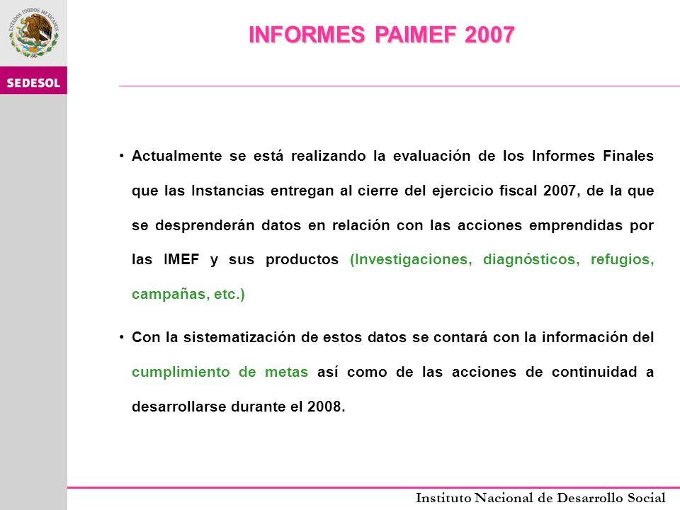 INFORMES PAIMEF 2007