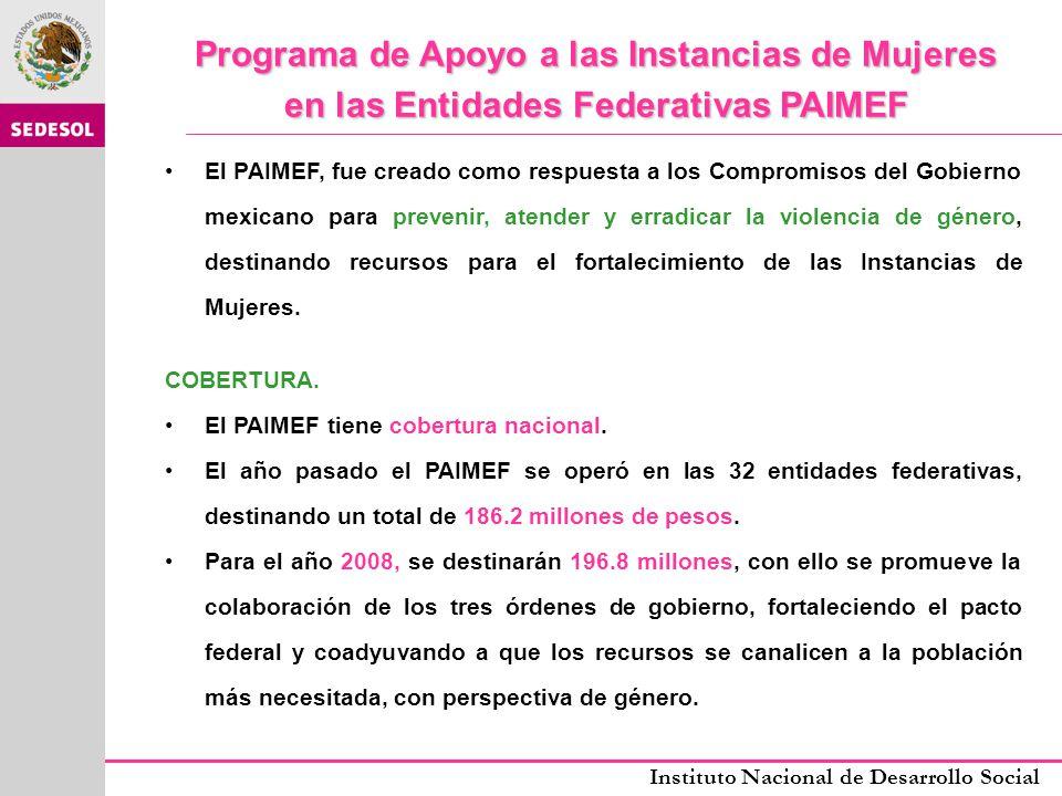 Programa de Apoyo a las Instancias de Mujeres en las Entidades Federativas PAIMEF