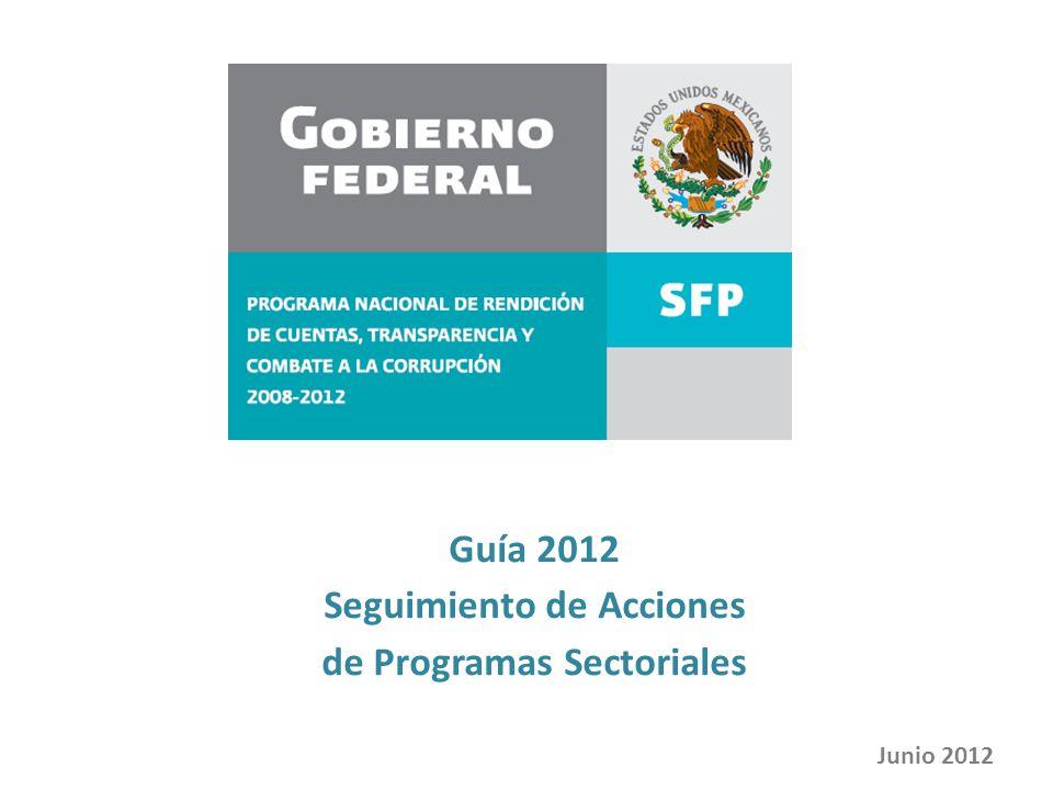 Seguimiento de Acciones de Programas Sectoriales