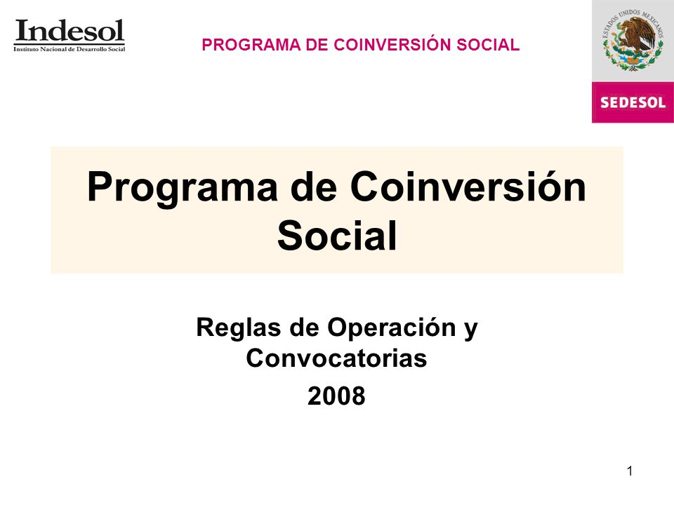 Programa de Coinversión Social