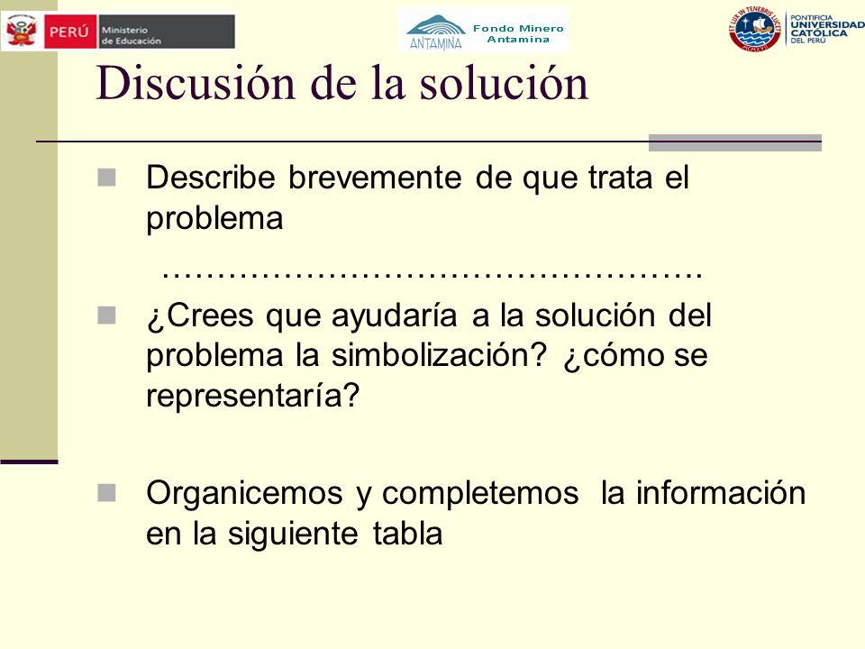 Discusión de la solución