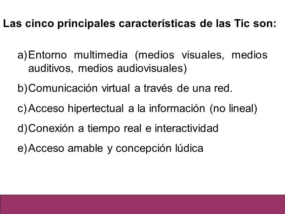 Las cinco principales características de las Tic son: