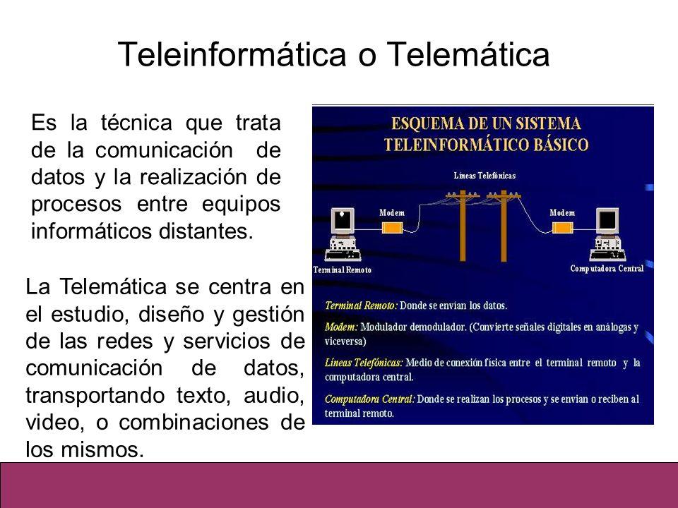 Teleinformática o Telemática