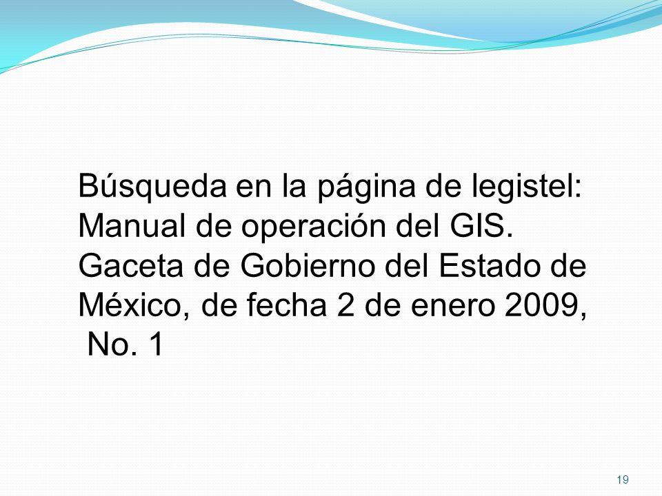Búsqueda en la página de legistel: Manual de operación del GIS