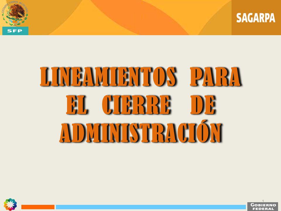 EL CIERRE DE ADMINISTRACIÓN