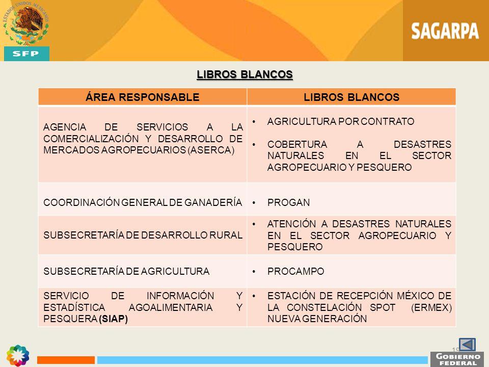 LIBROS BLANCOS ÁREA RESPONSABLE LIBROS BLANCOS