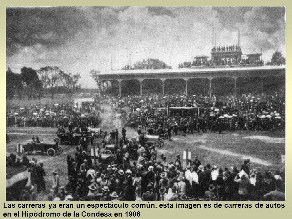 Las carreras ya eran un espectáculo común