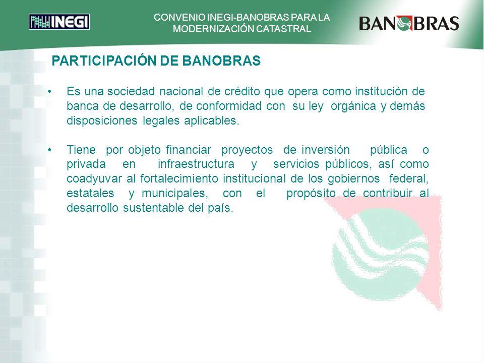 PARTICIPACIÓN DE BANOBRAS