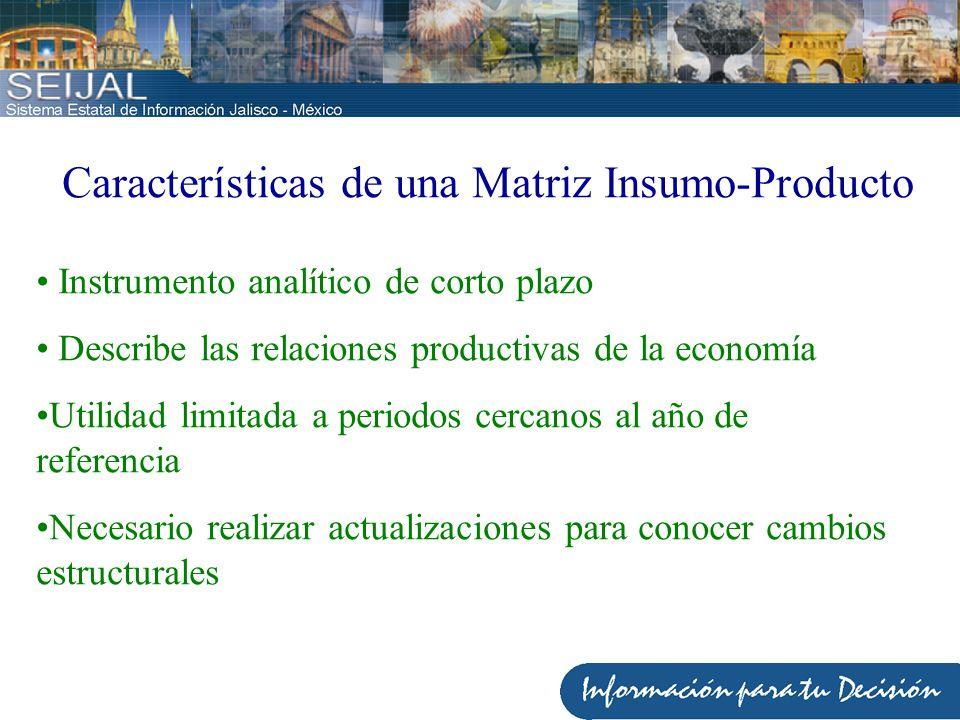 Características de una Matriz Insumo-Producto