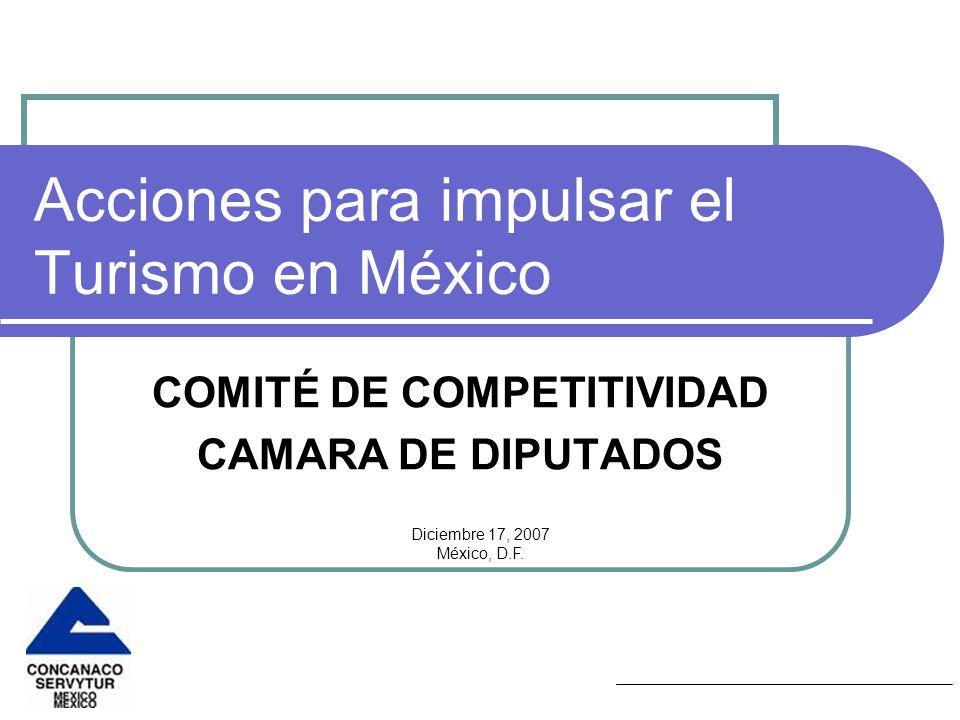 Acciones para impulsar el Turismo en México