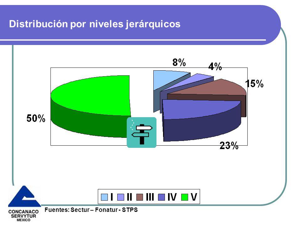 Distribución por niveles jerárquicos