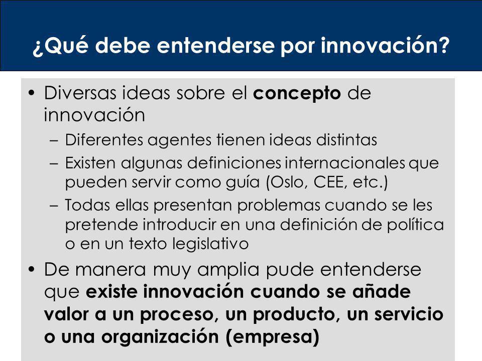 ¿Qué debe entenderse por innovación