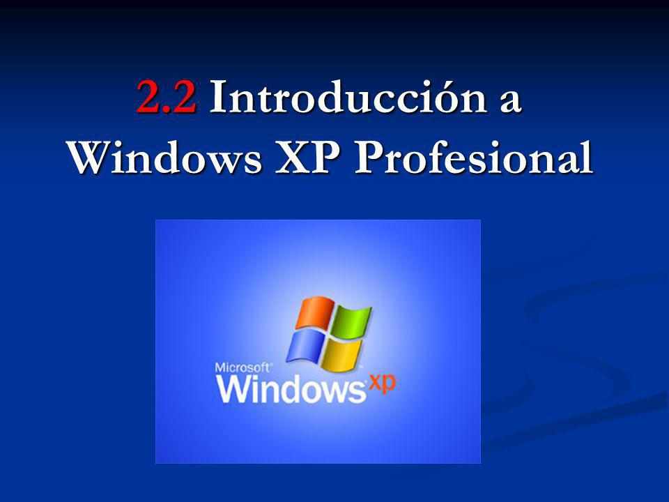 2.2 Introducción a Windows XP Profesional