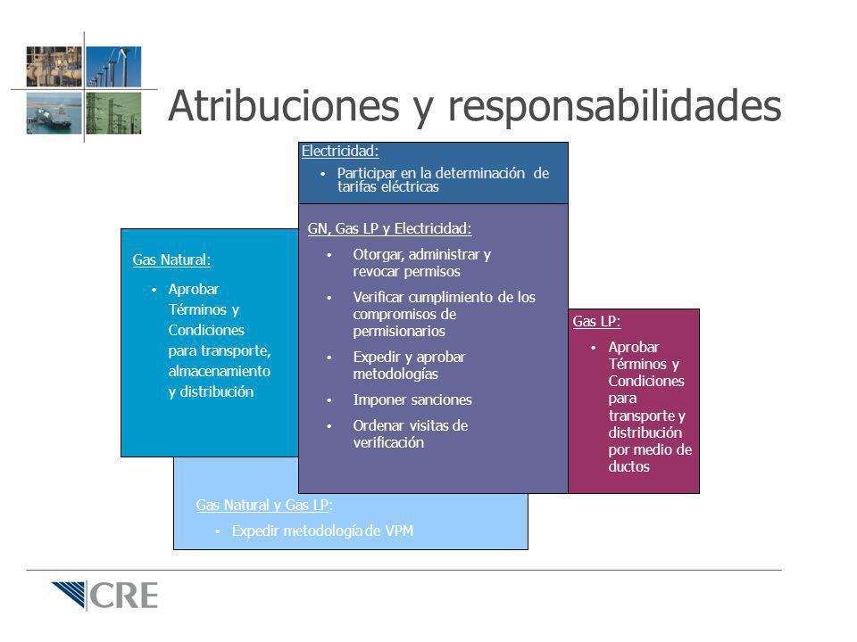 Atribuciones y responsabilidades