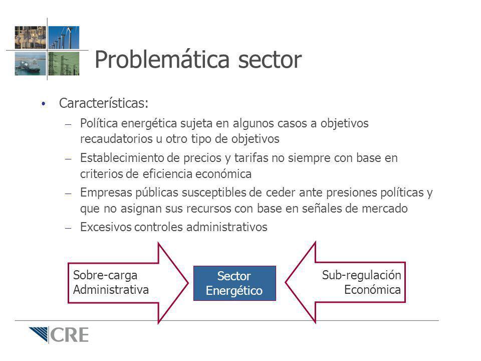 Problemática sector Características: