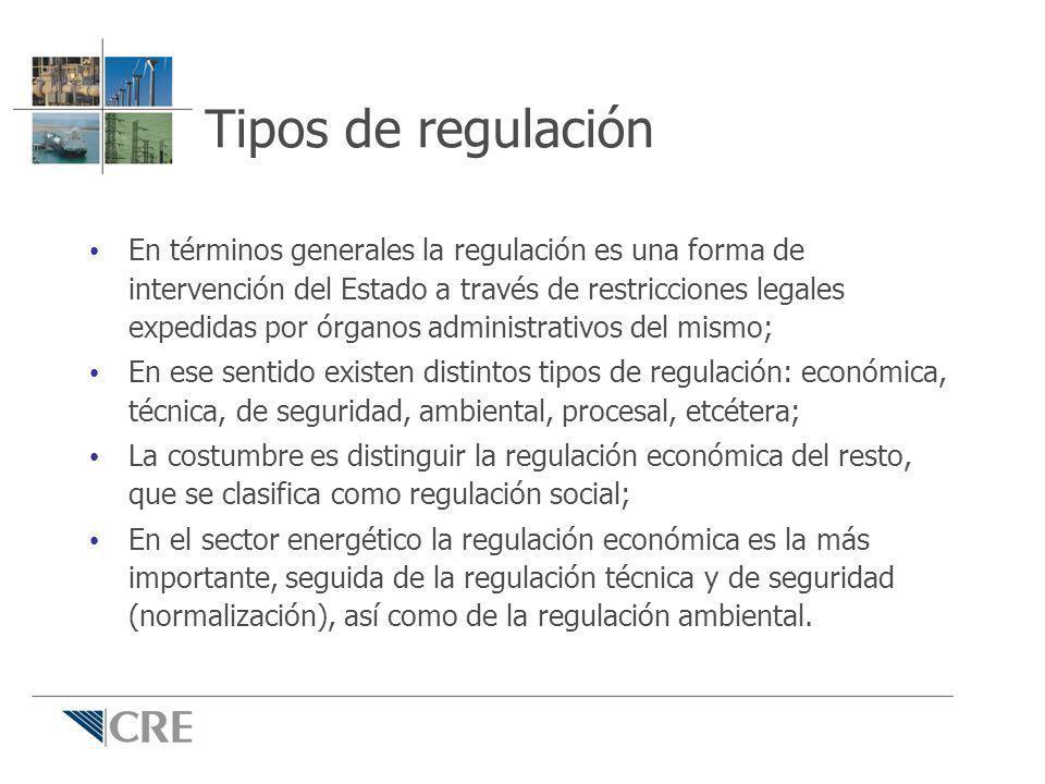 Tipos de regulación