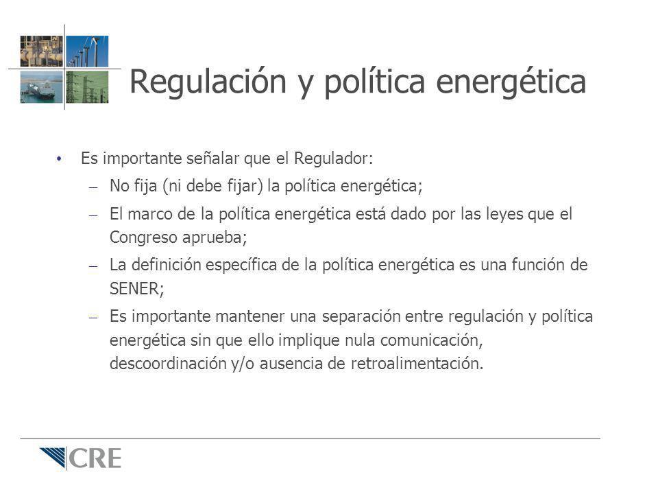 Regulación y política energética