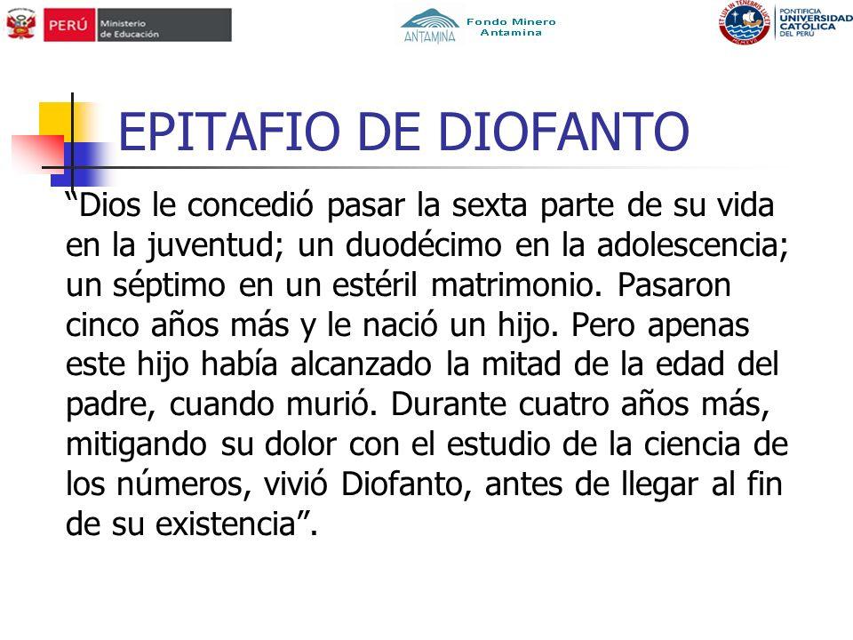 EPITAFIO DE DIOFANTO
