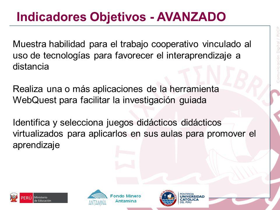 Indicadores Objetivos - AVANZADO