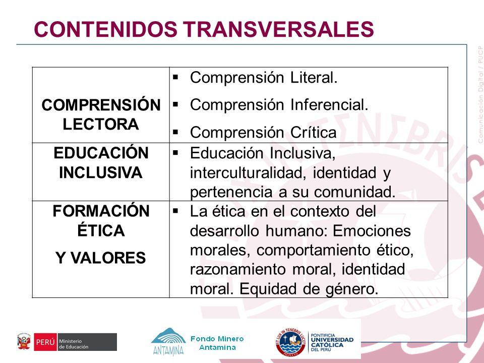 CONTENIDOS TRANSVERSALES