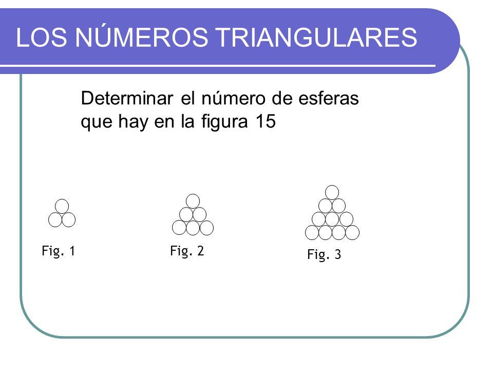 LOS NÚMEROS TRIANGULARES