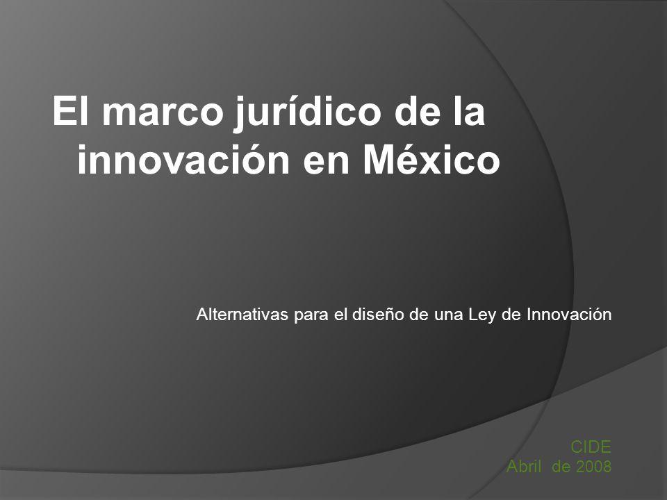El marco jurídico de la innovación en México