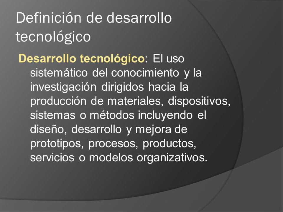 Definición de desarrollo tecnológico