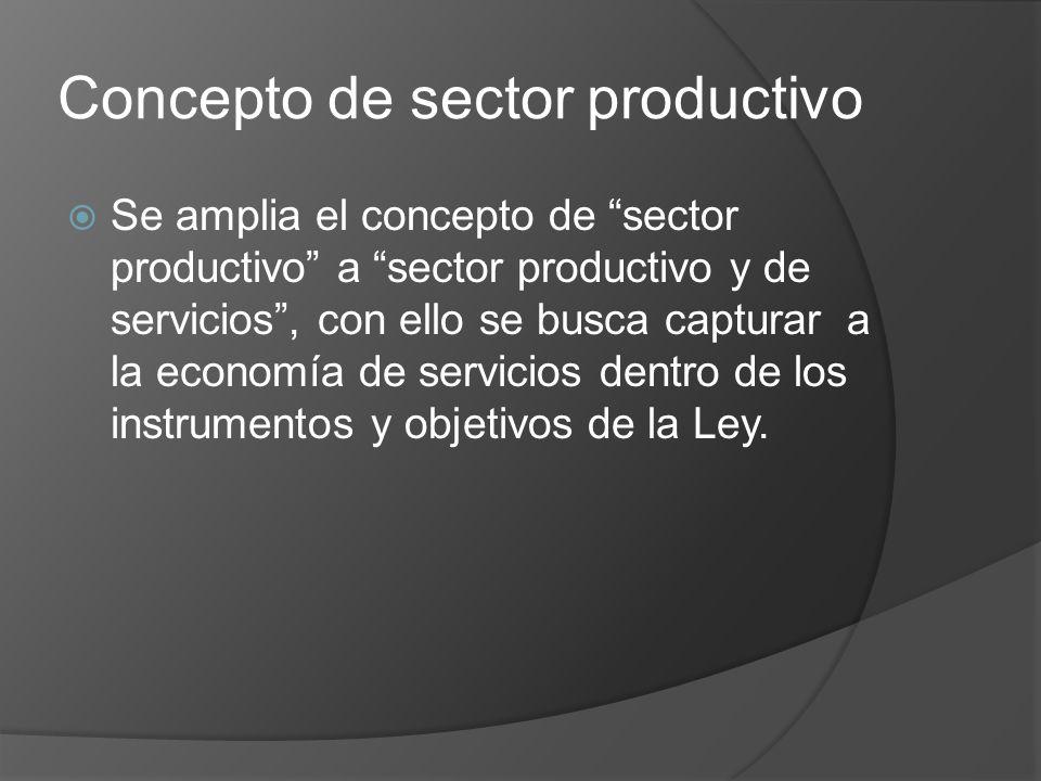 Concepto de sector productivo
