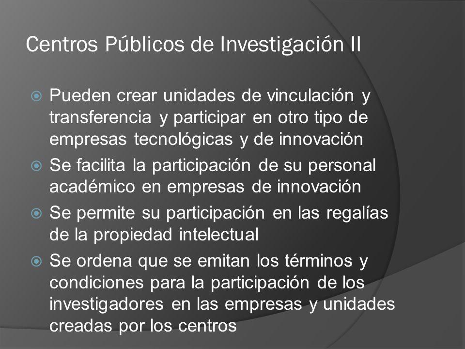 Centros Públicos de Investigación II