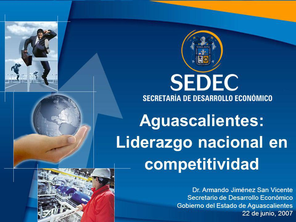 Aguascalientes: Liderazgo nacional en competitividad