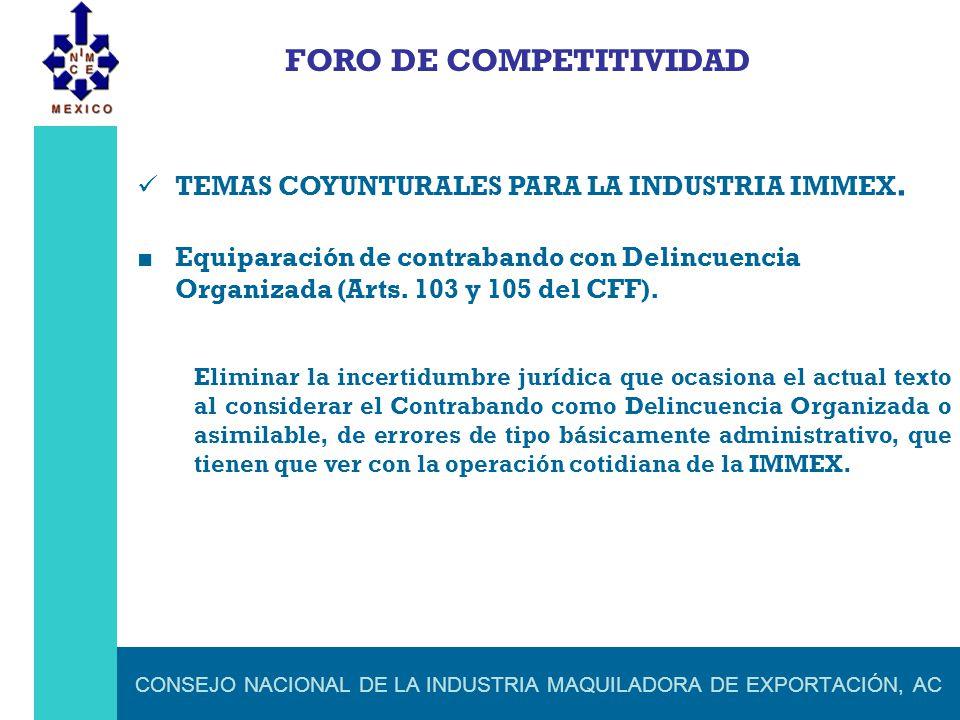 CONSEJO NACIONAL DE LA INDUSTRIA MAQUILADORA DE EXPORTACIÓN, AC