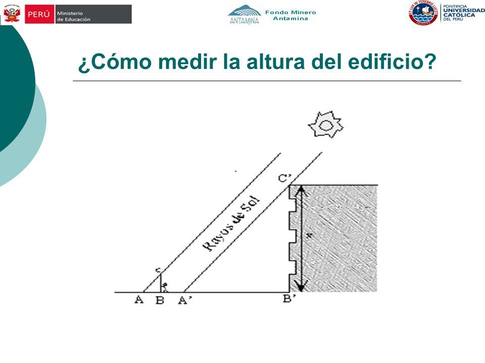 ¿Cómo medir la altura del edificio