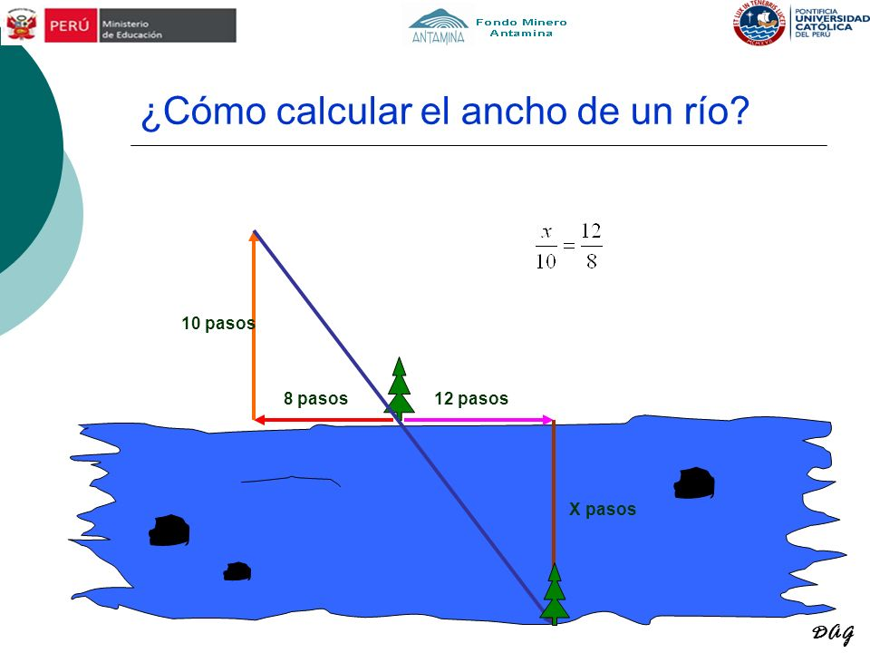 ¿Cómo calcular el ancho de un río