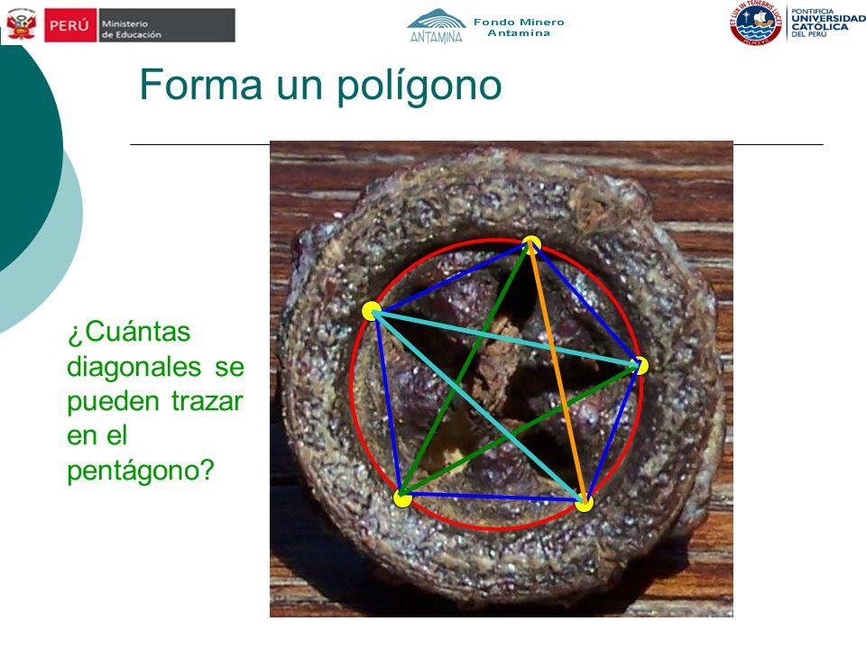 Forma un polígono ¿Cuántas diagonales se pueden trazar en el pentágono