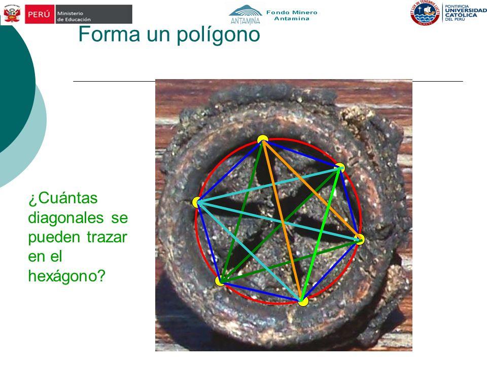 Forma un polígono ¿Cuántas diagonales se pueden trazar en el hexágono