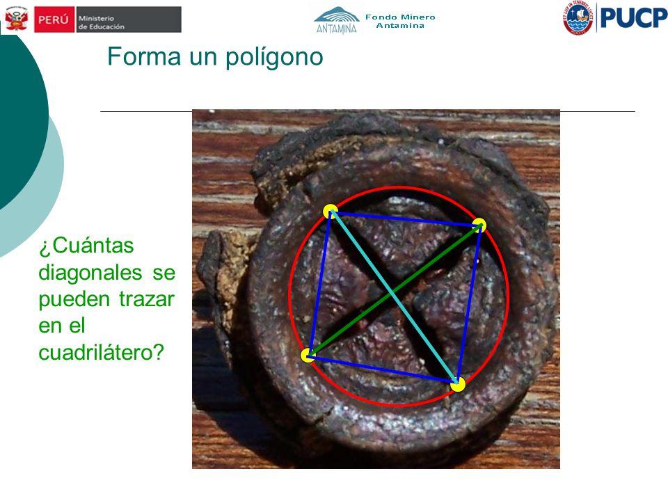 Forma un polígono ¿Cuántas diagonales se pueden trazar en el cuadrilátero
