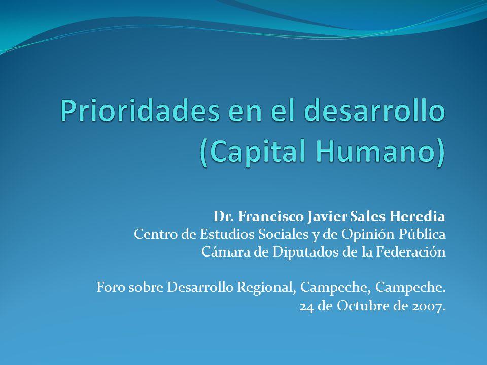 Prioridades en el desarrollo (Capital Humano)